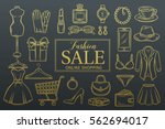 hand drawn fashion online shop... | Shutterstock .eps vector #562694017
