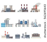 factory and power station icons ... | Shutterstock .eps vector #562695643