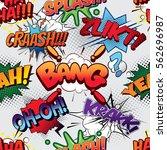 bang seamless comics background | Shutterstock .eps vector #562696987