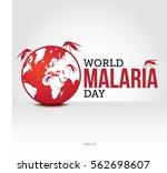 world malaria day vector... | Shutterstock .eps vector #562698607