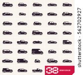 cars icons set  different... | Shutterstock .eps vector #562702927