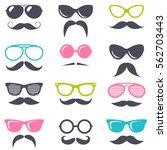 colorful cartoon retro... | Shutterstock .eps vector #562703443