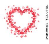 abstract vector heart . element ... | Shutterstock .eps vector #562704403