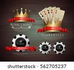 casino card design   vintage... | Shutterstock .eps vector #562705237
