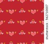vector seamless heart pattern... | Shutterstock .eps vector #562710007
