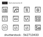 gui elements for applications... | Shutterstock .eps vector #562713433