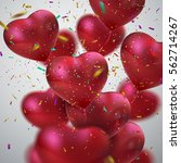 balloon hearts. vector holiday...   Shutterstock .eps vector #562714267