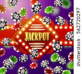 jackpot casino sign with ... | Shutterstock .eps vector #562720297
