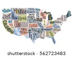 usa map with states   pictorial ...