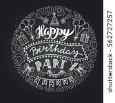 poster for the birthday... | Shutterstock .eps vector #562727257