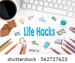 life hacks  business concept.... | Shutterstock . vector #562727623
