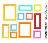 multi colored photo frames for... | Shutterstock .eps vector #562727857