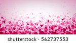 love valentine's banner with... | Shutterstock .eps vector #562737553