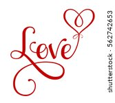 "vector ""love"" inscription with... 