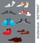 Boots Set.  Shoes Set.