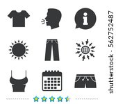 clothes icons. t shirt and... | Shutterstock .eps vector #562752487