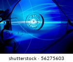 hard disk drive with an... | Shutterstock . vector #56275603