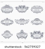 collection of vintage patterns. ... | Shutterstock .eps vector #562759327