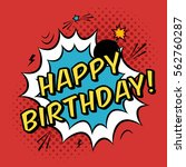 vector happy birthday greeting... | Shutterstock .eps vector #562760287