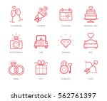 wedding icons set | Shutterstock .eps vector #562761397