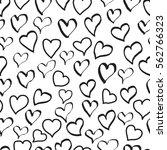 hearts doodle pattern ...   Shutterstock .eps vector #562766323