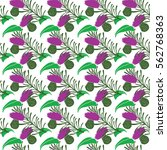 floral seamless pattern in... | Shutterstock .eps vector #562768363