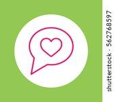 love like heart sign line icon | Shutterstock .eps vector #562768597