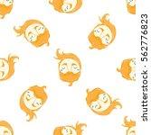 funny cartoon face with beard... | Shutterstock .eps vector #562776823