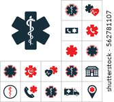 life star snake icon  medical... | Shutterstock .eps vector #562781107