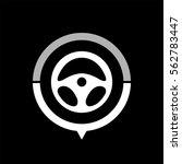steering wheel    black vector... | Shutterstock .eps vector #562783447
