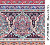 indian floral paisley medallion ... | Shutterstock .eps vector #562785793