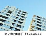 facade of a modern apartment... | Shutterstock . vector #562810183