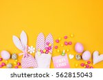 easter holiday creative... | Shutterstock . vector #562815043