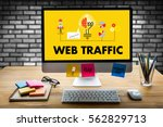 web traffic  business ... | Shutterstock . vector #562829713