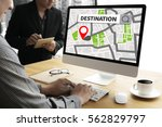 route way route  city map... | Shutterstock . vector #562829797