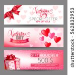 valentines day sale and gift... | Shutterstock .eps vector #562832953