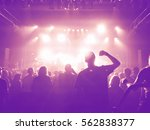 a crowd of people at a concert... | Shutterstock . vector #562838377