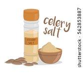 vector celery salt illustration ... | Shutterstock .eps vector #562853887