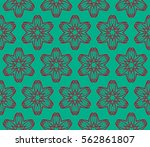 abstract repeat backdrop.... | Shutterstock .eps vector #562861807