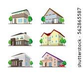illustration of the house  ...   Shutterstock .eps vector #562865587