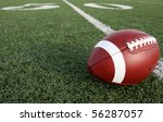 american football with the... | Shutterstock . vector #56287057