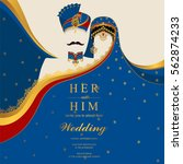 indian wedding invitation card... | Shutterstock .eps vector #562874233