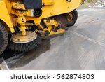 Close Up On Road Sweeper