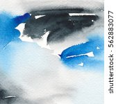 abstract watercolor painting.... | Shutterstock . vector #562883077