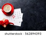 valentines day greeting card.... | Shutterstock . vector #562894393
