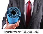 business man hold exercise yoga ... | Shutterstock . vector #562903003