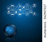world internet of things... | Shutterstock .eps vector #562907317
