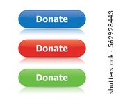 donate buttons | Shutterstock .eps vector #562928443