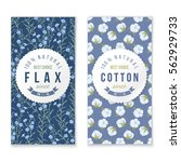 flax and cotton vertical... | Shutterstock .eps vector #562929733