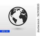 globe earth vector icon | Shutterstock .eps vector #562930033